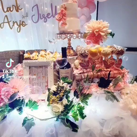 Mark Anjo💍Jiselle Let l💟ve grow🌱 17March2021 Dubai 🇦🇪 #mydreampartyAE #amazingdreamparty #mdpaeparties #mdpaeoccasions #mdpaecreativestyling #mdpaeballoongarland #mdpaedecoration #mdpaewedding #mdpaeweddingcake #mdpaecupcakes #mdpaelollicakes  #march17