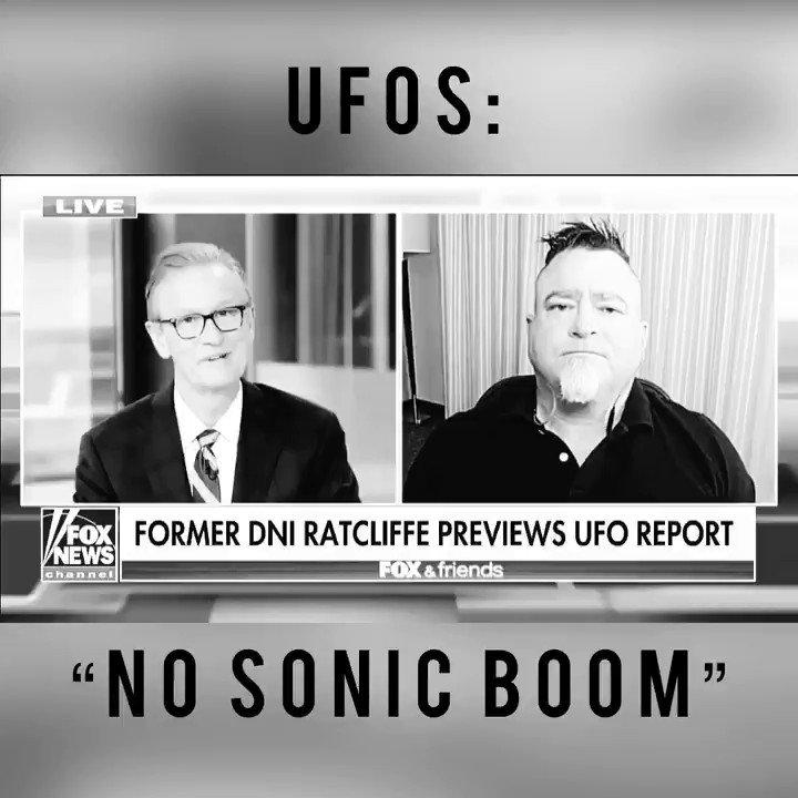 Image for the Tweet beginning: UFOs: Breaking the sound barrier