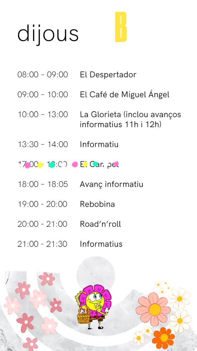 Image for the Tweet beginning: Bon dia a tots🌼🌸🌷 Ací