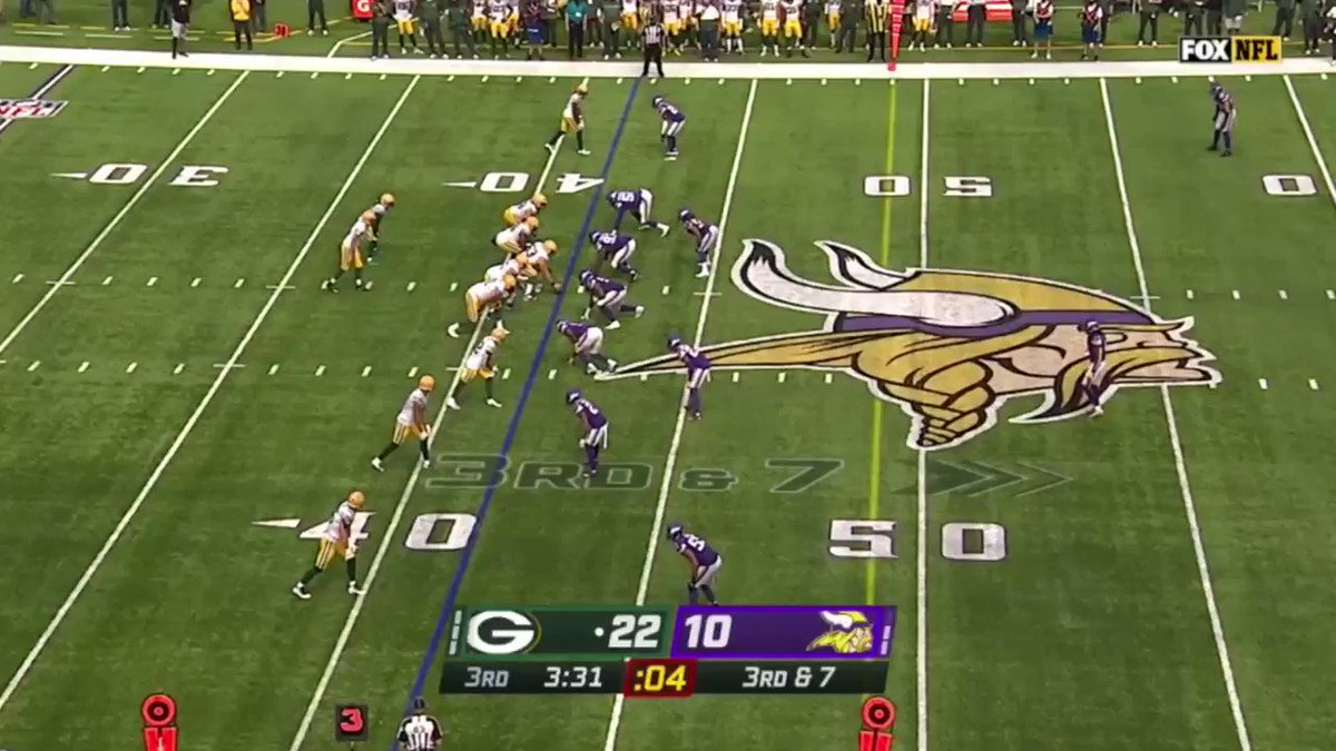 Aaron Rodgers threw the ball to the first down line on third down 91 times last season. He was accurate on 62 of those throws (68.1%).  1st out of 31 quarterbacks. https://t.co/rsmeTXlPfk