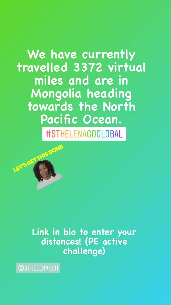 Calling ALL St Helena pupils,staff and parents! Let's add some more miles to our total this Easter break!! #sthelenagoesglobal link in bio!!!