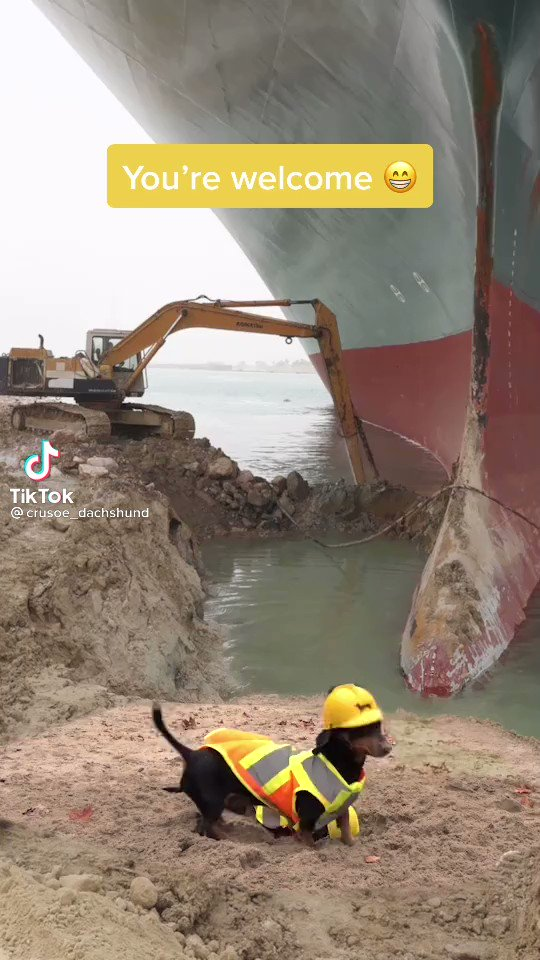 We have obtained real-time footage of how the ship in the Suez was actually freed.