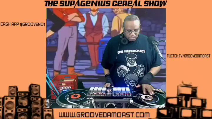 Highlights from the Supagenius Cereal Show Livestream! Follow me on m.twitch.tv/groovedamoast/… #nowplaying #littlerecords #7inchvinyl #45s #twitchtv #djset #djmix #livestream #phillydjs #dj