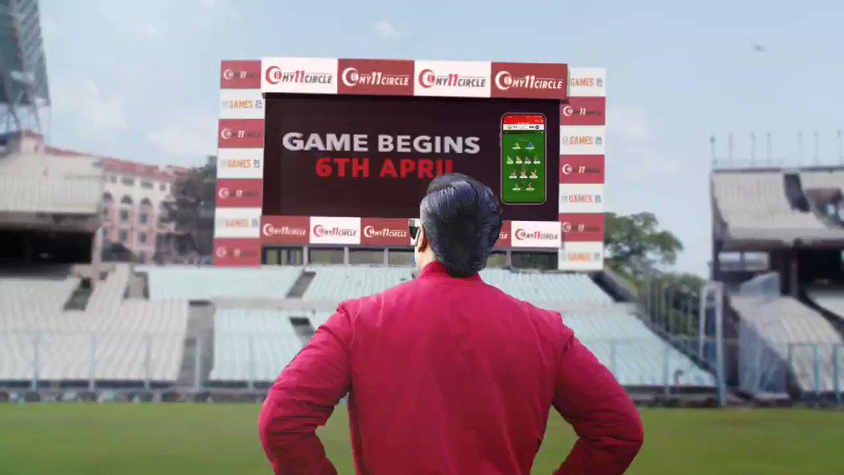 BIG GAME starts on 6th April 👈🏽 I'll be on @My11Circle with Dada @SGanguly99 , VeryVerySpecial @VVSLaxman281 & Jinks @ajinkyarahane88 💪🏽💪🏽💪🏽 Are you ready? #PlayWithChampions