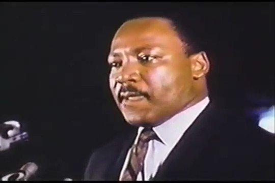 """My father's final speech, given the evening before he was assassinated, 53 years ago today.  """"I may not get there with you."""" https://t.co/8uClQSdC4m"""
