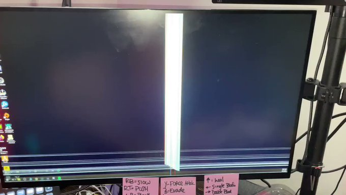 Brooo the struggle to beat this price of shit boss is so real I broke my monitor being pissed... https://t