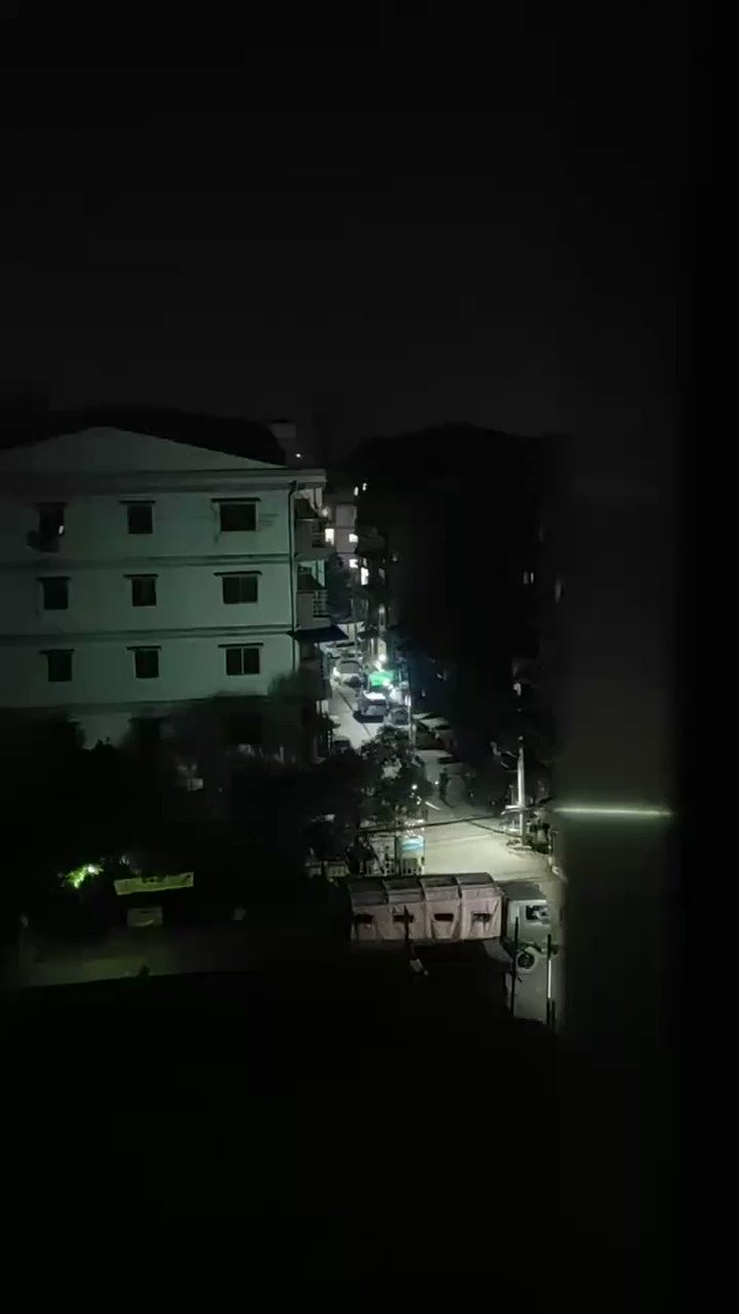 Terrorists raided into #Yanpyay, #Tharketa, and torching to evey civillians' houses and forced to come out.They even shot with stones into houses.All the people in the ward have to turn off the light and stay quiet.(8:45 pm) #Apr3Coup #WhatsHappeningInMyanmar https://t.co/yC3ak9jN9a