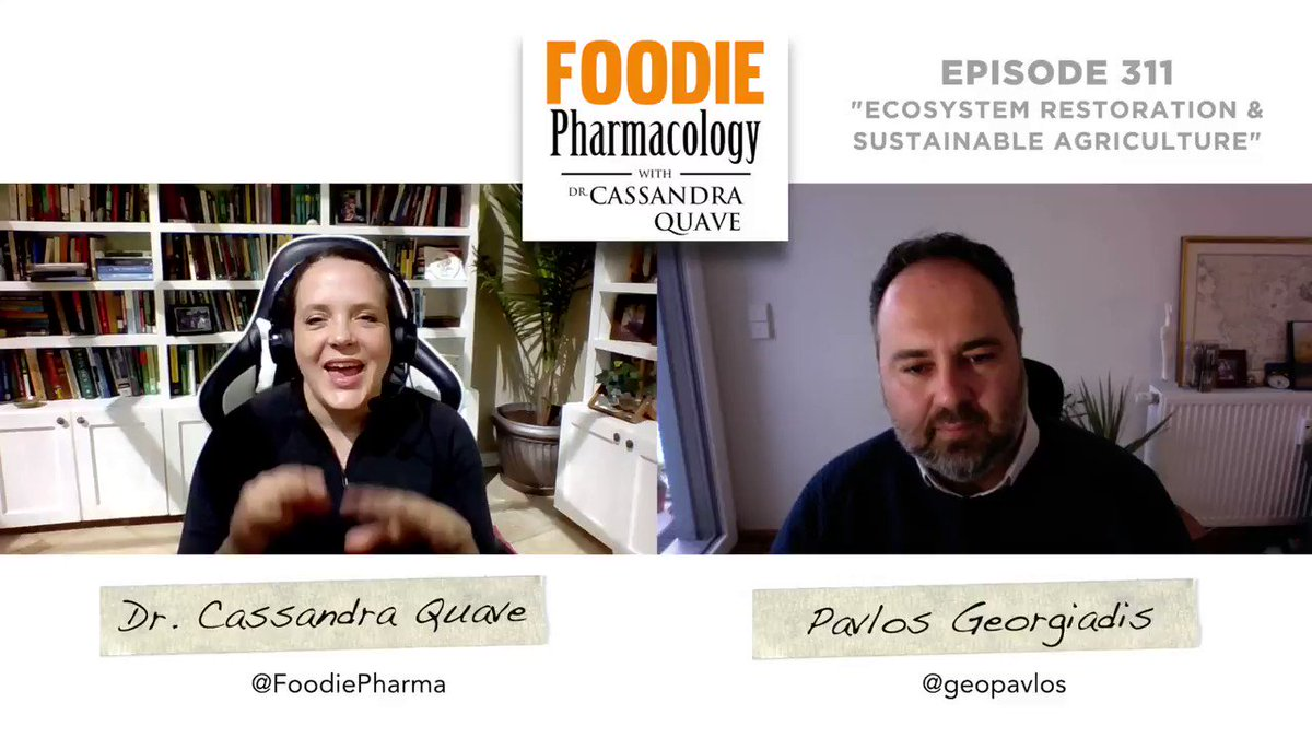 How do people connect with the land? What role do initiatives in sustainable agriculture and ecosystem restoration play in climate action? This week on #FoodiePharmacology #podcast, I explore these questions & more with Greek ethnobotanist @geopavlos!   https://t.co/GHbSuaYoo0