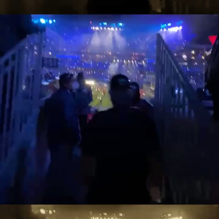 The things we would do to be back in this moment. 🎆 🙌  See what it's like to take a walk through one of the greatest Super Bowl halftime performances of all time.  #SBLV #SBLVOnLocation