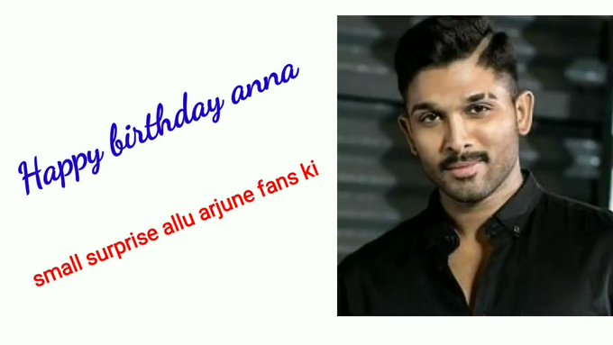 Happy birthday annya tounge use in painting surprise allu arjun fans