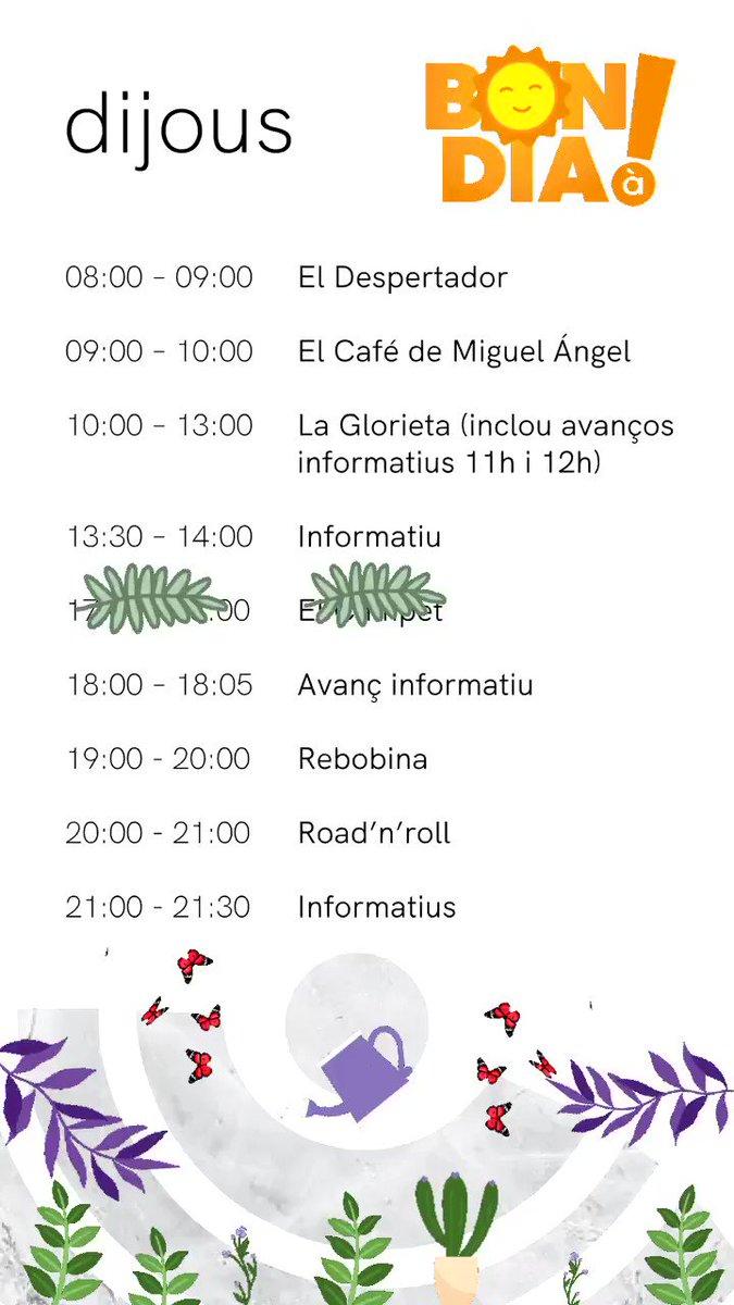 Image for the Tweet beginning: Bon dia a tots🌞🌞 Ací
