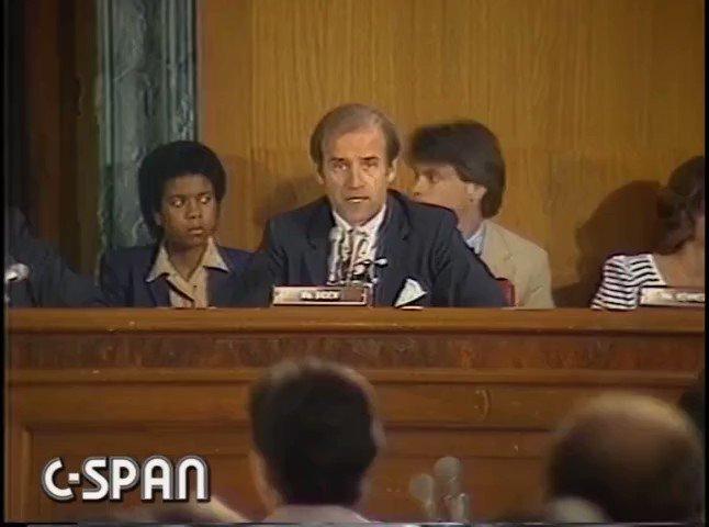 Image for the Tweet beginning: 1983: Sen. @JoeBiden calls FDR's