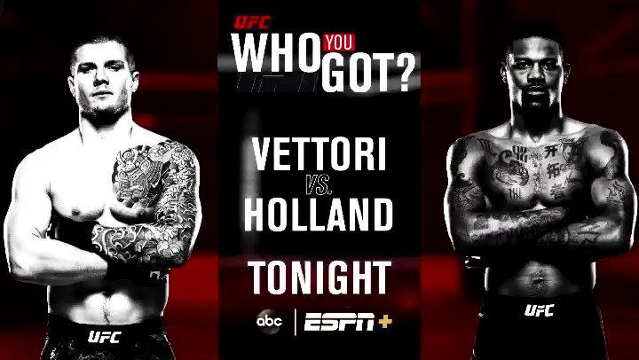 Image for the Tweet beginning: Who u got tonight: @MarvinVettori