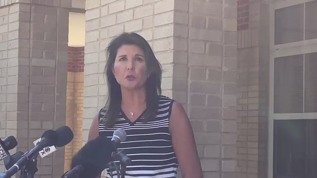 """I asked @NikkiHaley if she would support Donald Trump if he runs again in 2024.  """"Yes,"""" she told me.  """"I would not run if President Trump ran, and I would talk to him about it,"""" she added. """"That's something that we will have a conversation about, at some point.""""  Story upcoming https://t.co/8uGwxk2s84"""