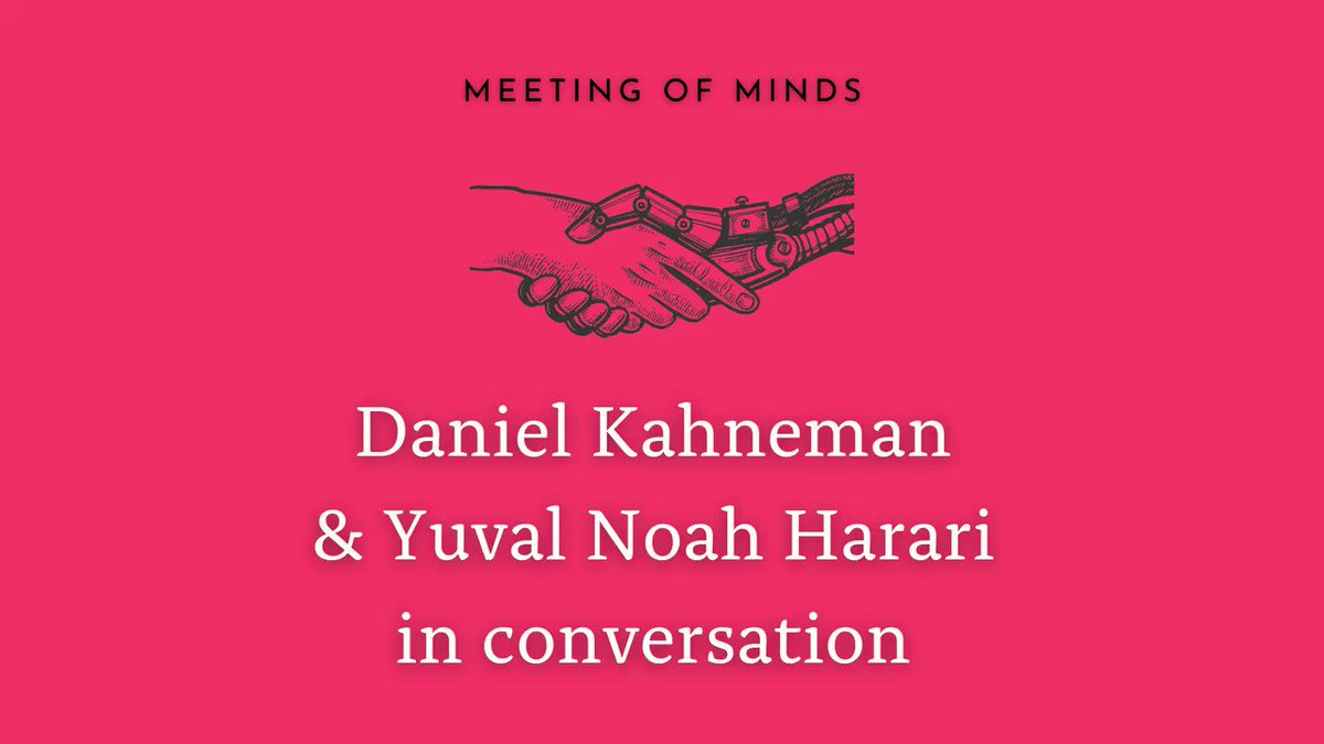 Watch the highly anticipated conversation between Daniel Kahneman and Yuval (moderated by @karaswisher) where they discuss the global trends that are shaping humanity. See a sneak peek below...  For the entire discussion, visit: https://t.co/j2bpx1hDSE  -YNH Team  #MeetingofMinds https://t.co/iuUNQOmxrE