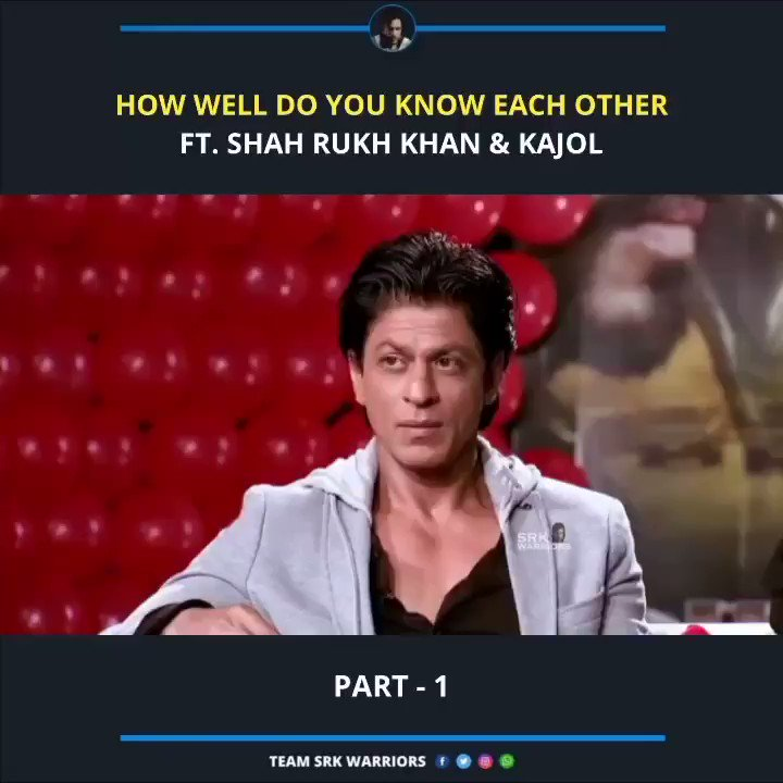 How well do you know each other? Ft @iamsrk & @itsKajolD ❤️  Full video:   #ShahRukhKhan #Kajol