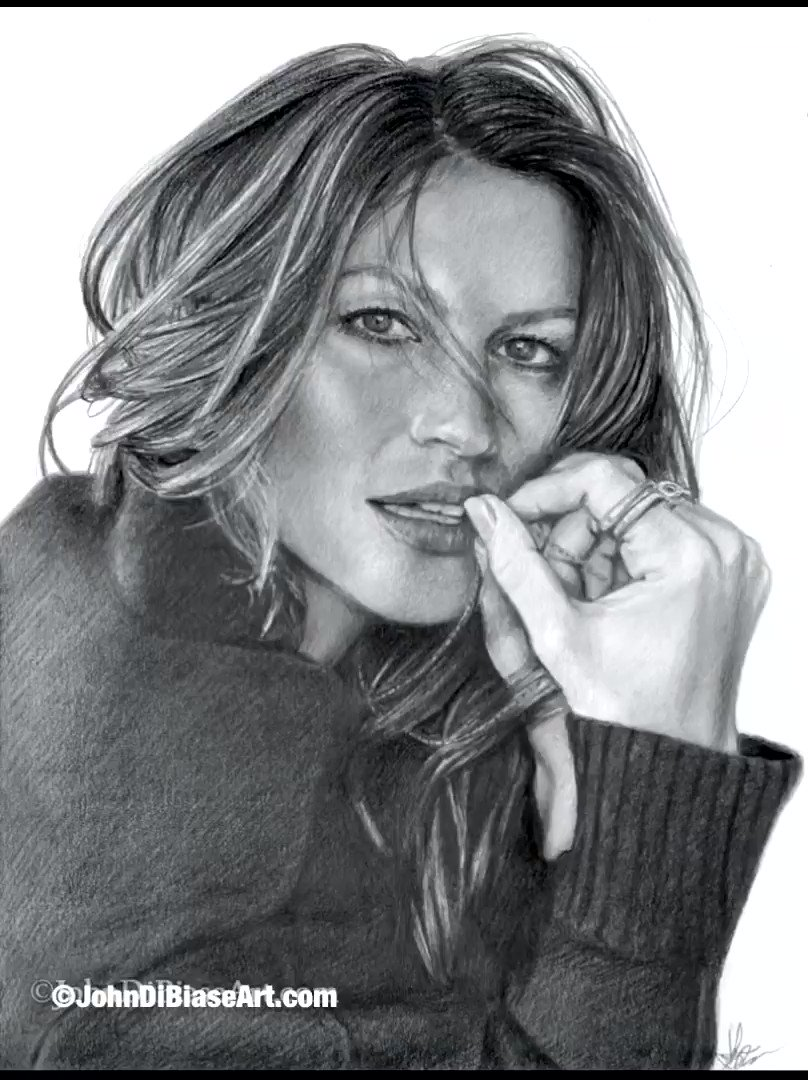 Hey gang! Here's the progression video for my recently finished freehand graphite @gisele drawing. ☺️  #giselebundchen  #gisele  #model #tombrady  #victoriassecret #supermodel #beautiful #pretty #newenglandpatriots  #art #artist #artwork #inspiration #gallery #draw #drawing