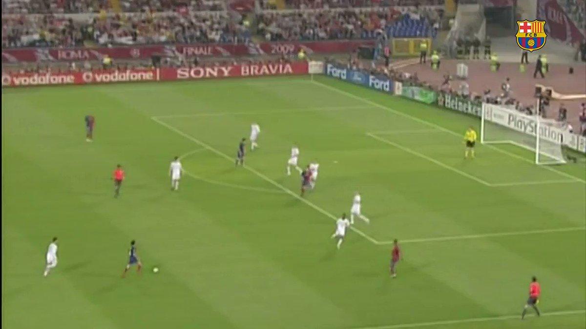 Leo #Messi's 4️⃣ @ChampionsLeague finals:  4️⃣ titles 🏆🏆🏆🏆   2️⃣ goals 💥💥  3/7 https://t.co/VMNzzCaM0H