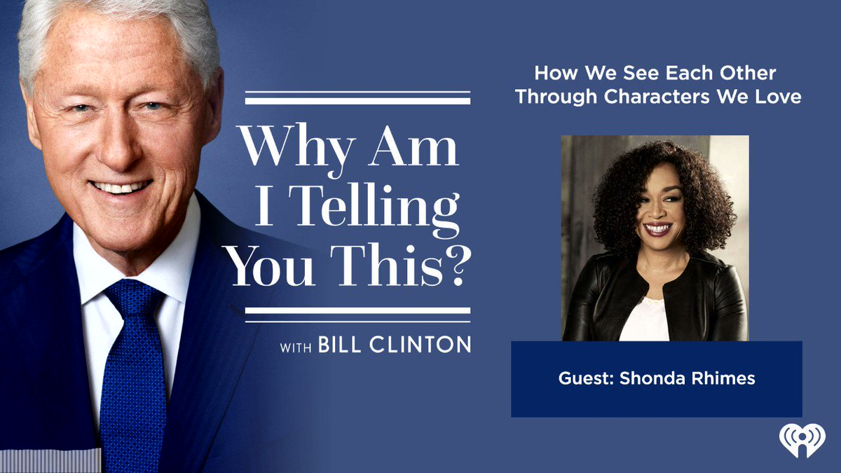 Enjoyed a chat with @BillClinton about all things storytelling, saying YES and more. Take a listen!