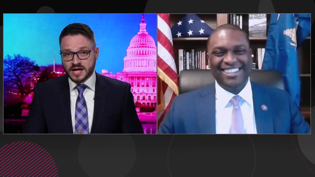 """BREAKING -- """"There's no question that Justice Breyer, for whom I have great respect, should retire at the end of this term. My goodness: have we not learned our lesson?""""  Dem @RepMondaire Jones, who just introduced a court expansion bill, tells me/@cheddar BREYER should retire https://t.co/F1XjeMrfKu"""