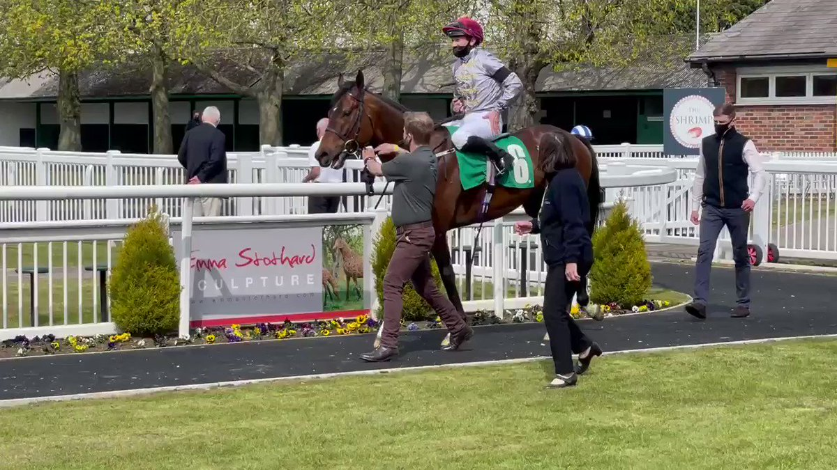A very happy Toro Strike on his way back in after winning the feature race at Thirsk. Well done to owners Al Shaqab racing. Good start to the year