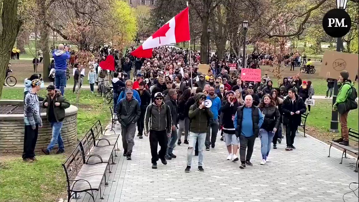 Toronto Police Make No Arrests, Allow Anti-Lockdown Protest to Proceed One Day After Doug Ford's Restrictive Lockdown Measures GL9rfGCuoTpYsKTd