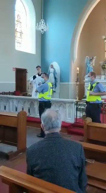Gardai storming a Catholic Church today in Athlone. https://t.co/Lb8CHHm6sl