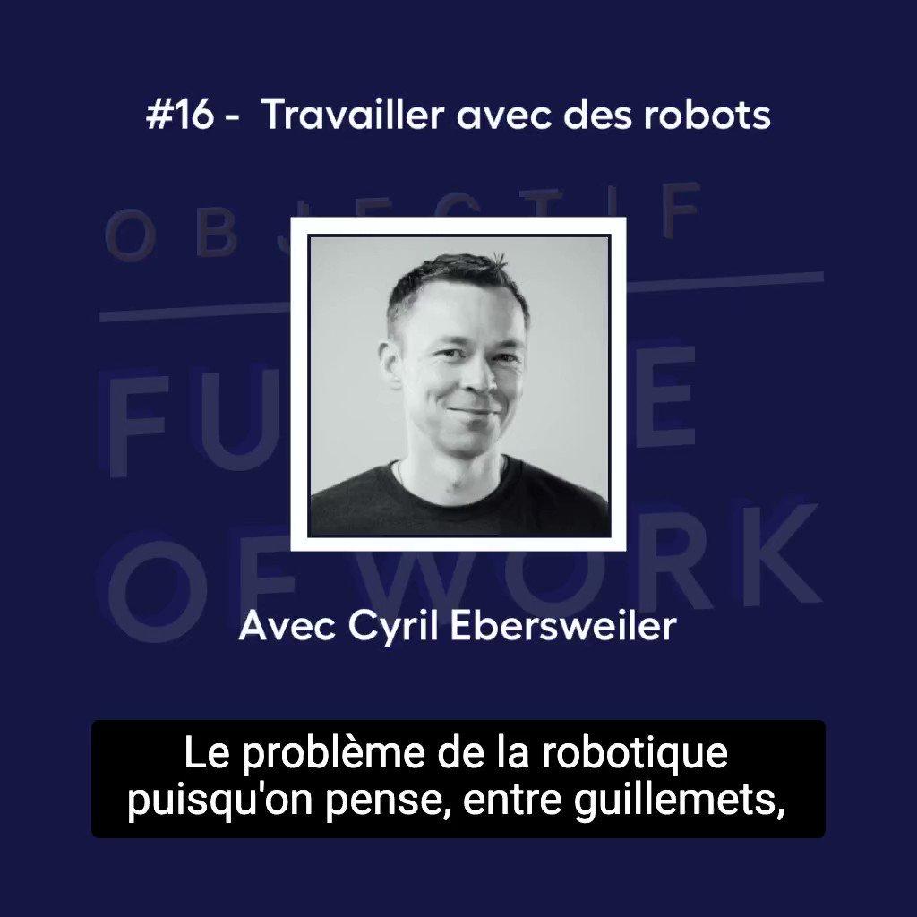 """#Podcast ⚡️- Objectif Future of Work - Épisode 16 : """"Travailler avec des #robots"""" avec Cyril Ebersweiler, General Partner chez @sosventures et co-fondateur de l'accélérateur de hardware HAX. Extrait 👇  🎧 Écoutez l'épisode complet : https://t.co/T5HYhvfb7e"""