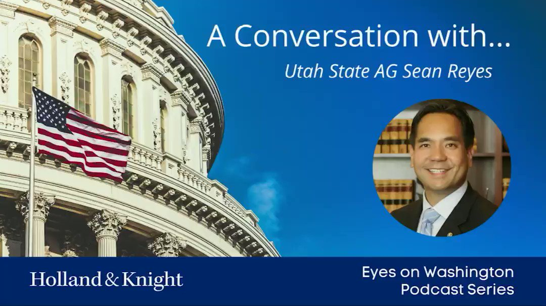 """ICYMI:    Thank you @jim_schultz, @Holland_Knight  for having me on the """"Eyes on Washington"""" podcast to discuss all things state Attorneys General and why balance of power matters so much."""