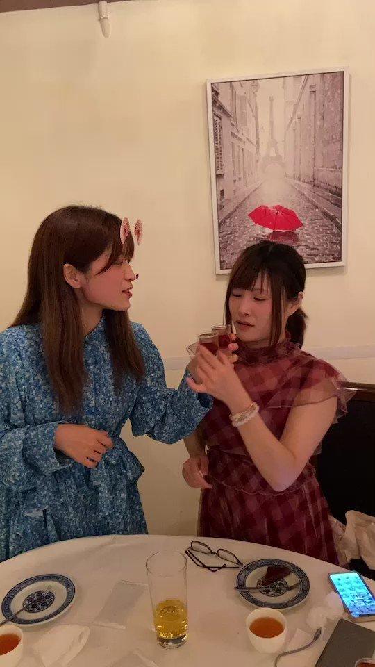 Image for the Tweet beginning: しろちゃんと合巹交杯🥂 このモーションは中華スタイル結婚式時、夫婦の乾杯です(笑)