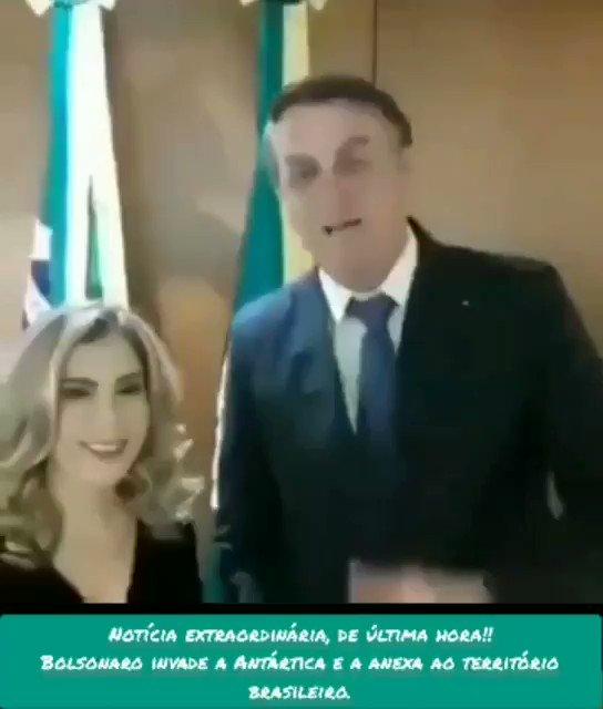 @LiaDeSousa1 Notícia urgente de última hora! Bolsonaro acaba de invadir a Antártica e anexá-la ao território brasileiro. 😱😱😱 (OMG, livrai-nos desta oitava praga) https://t.co/bj49u0M6nf