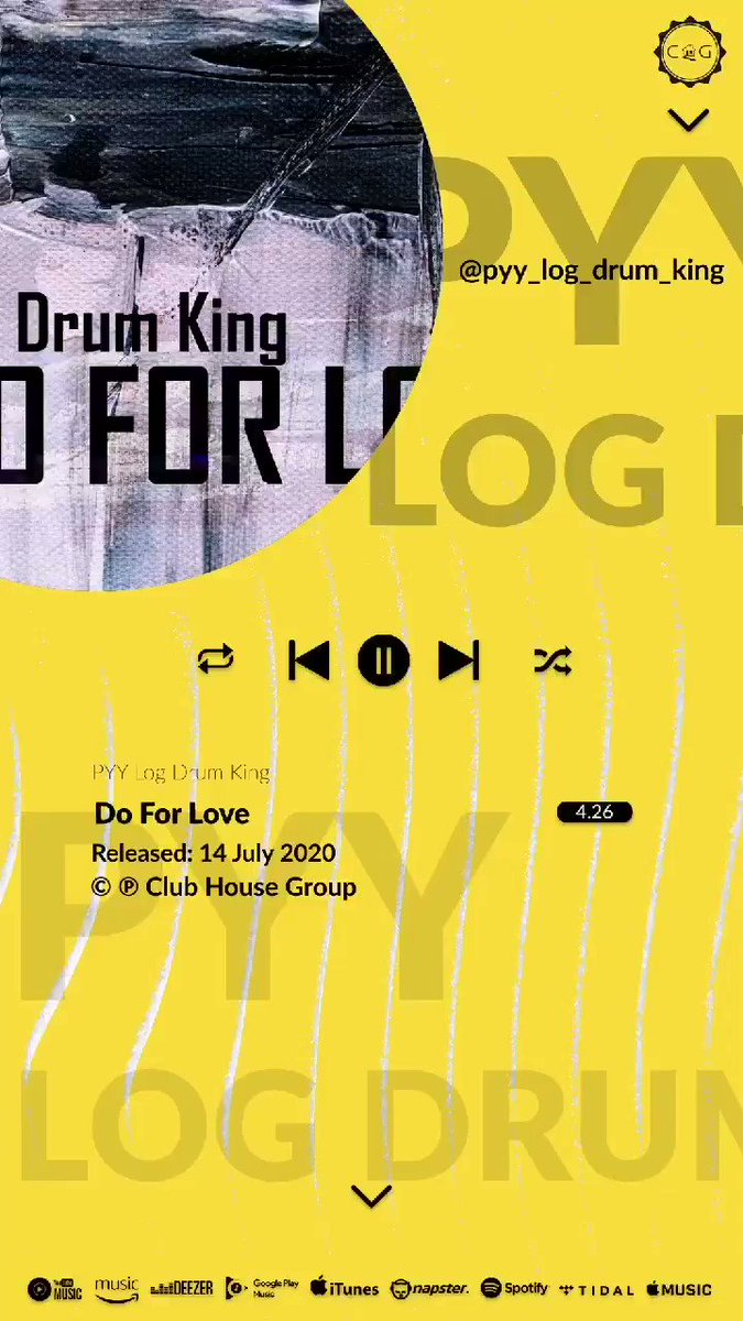 In case you missed it. Do for love By @pyy_log_drum_king is available on all your favourite music streaming and download platforms . Lend the house your ears . . .  #clubhousegroup #theunderground #feelslikehome #music #art #producers #creatives https://t.co/UvcfrqrGt1
