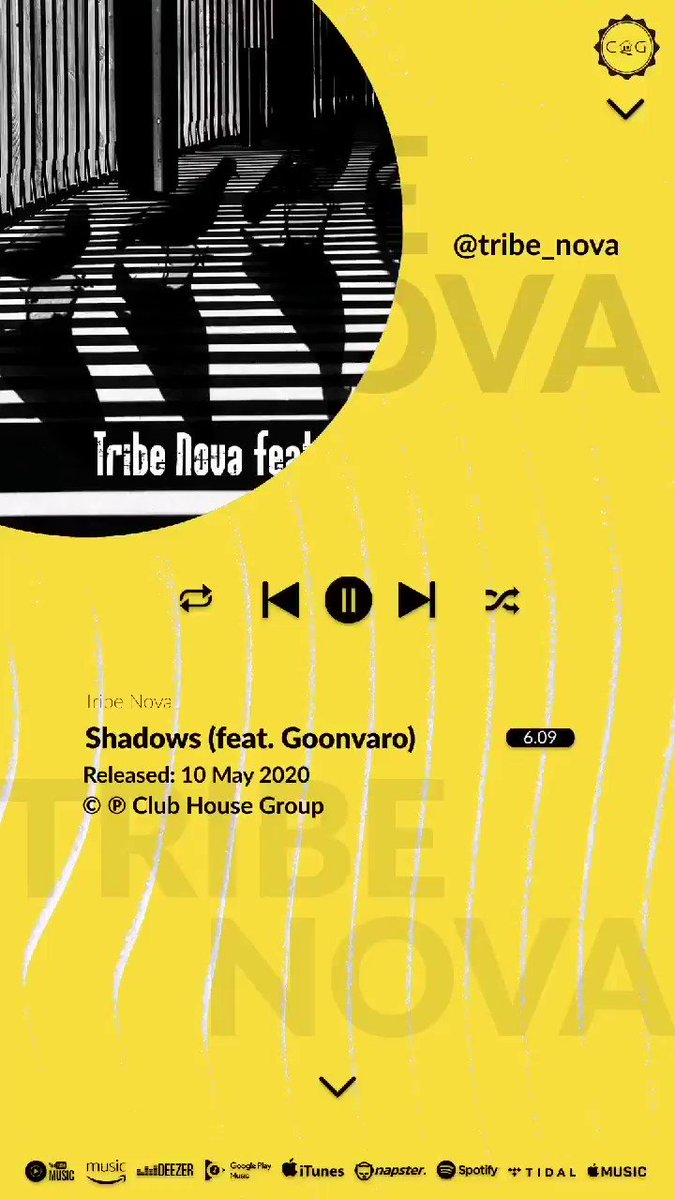 In case you missed it. Shadows By @tribe_nova &  Goonvaro is available on all your favourite music streaming and download platforms . Lend the house your ears . . .  #clubhousegroup #theunderground #feelslikehome #music #art #producers #creatives https://t.co/jkswnu1lKJ