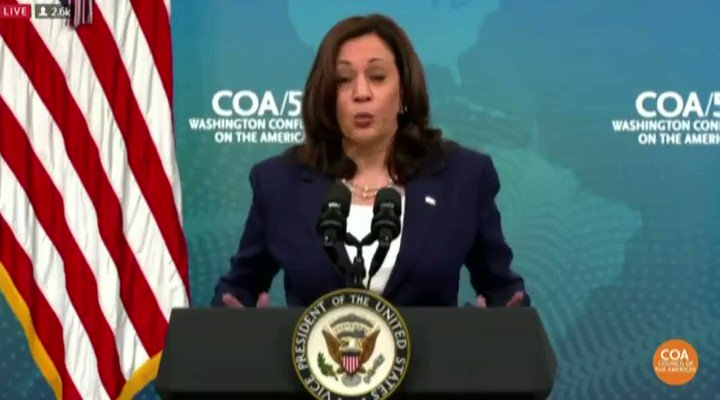 """Image for the Tweet beginning: VP Harris claims """"the lack"""