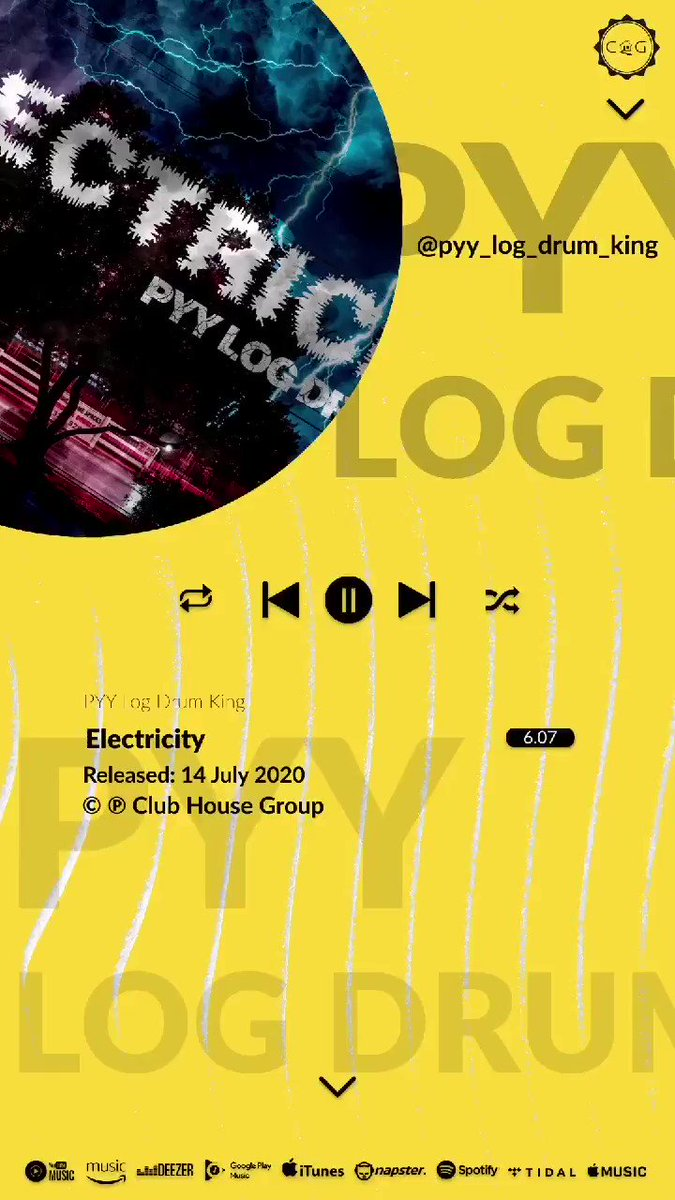 In case you missed it. Electricity By @pyy_log_drum_king is available on all your favourite music streaming and download platforms . Lend the house your ears . . .  #clubhousegroup #theunderground #feelslikehome #music #art #producers #creatives https://t.co/nsYerN5y01