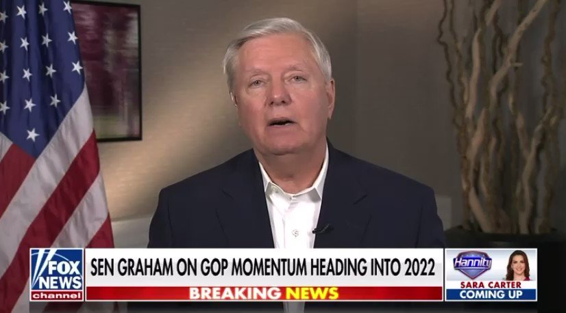 Lindsey Graham: Can we move forward without President Trump? The answer is no. I've always liked Liz Cheney but she's made a determination that the Republican Party can't grow with President Trump. I've determined we can't grow without him. https://t.co/ptdo7AQCKD