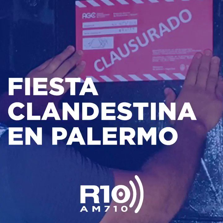 Image for the Tweet beginning: 🔴 Fiesta clandestina en Palermo  🔹