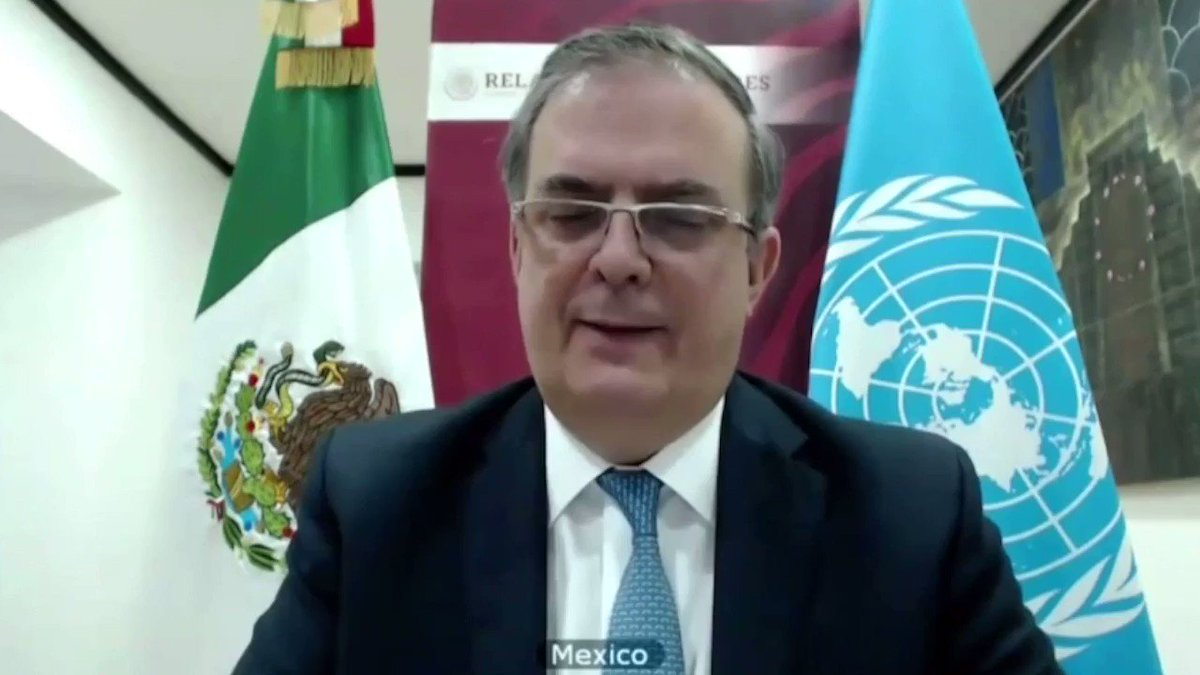 ▶️ Esta mañana, en la reunión del Consejo de Seguridad de la @ONU_es, el canciller @m_ebrard reiteró la preocupación de 🇲🇽 frente al #COVID19:   «Hay que asumir la lección de esta pandemia: funcionó la ciencia, pero no así la solidaridad o el sentido de justicia internacionales». https://t.co/xkAJYLcDAe
