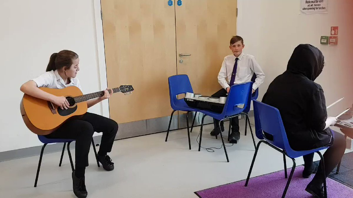 Image for the Tweet beginning: Year 9 jamming session earlier