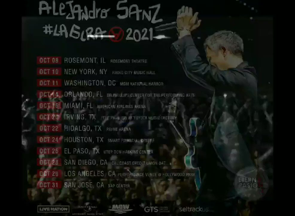 Compra tus entradas en #LaGiraUsa @AlejandroSanz  Disfrutarás! 🎩