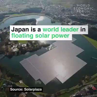 Japan is home to 73 of world's 100 largest floating #solar plants they prevent water evaporating, and help secure reservoirs in water-stressed countries.  We have solutions, implement them.  #ActOnClimate #climate #energy #GreenNewDeal #BuildBackBetter https://t.co/zdCjkPONFb