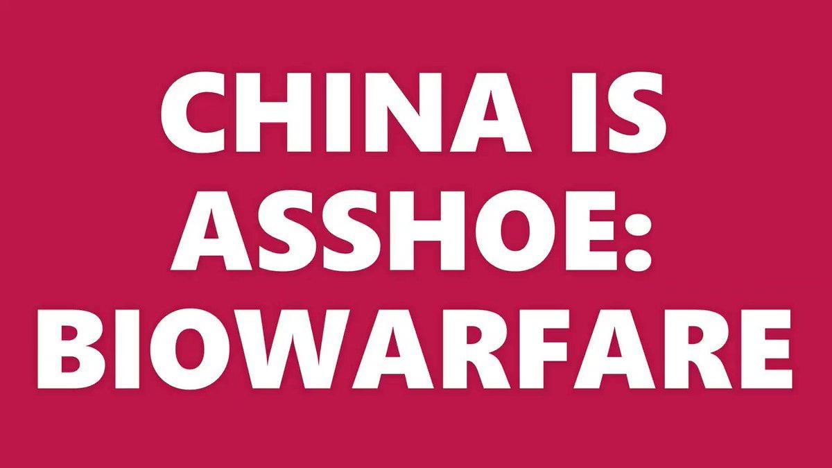 @DocWilliams18 Hell No!!! Don't forget launching Biowarfare too    https://t.co/QdjLKkChzy  #China #CCP #HongKong #MilkTeaAlliance #Malaysia  #Thailand #Japan #Taiwan #Tibet #Uyghurs #Philippines #Mongolia #India #ChinaVirus  #WhatsHappeningInMyanmar #Myanmar #WhatsHappeningInColombia