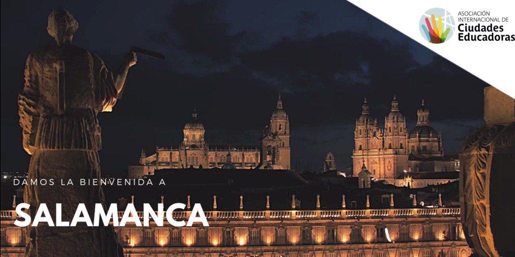 Image for the Tweet beginning: 🎉Salamanca se reincorpora a #CiudadesEducadoras! Bienvenidxs!