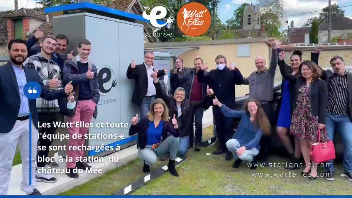 Image for the Tweet beginning: Visite des @Watt_Elles au château