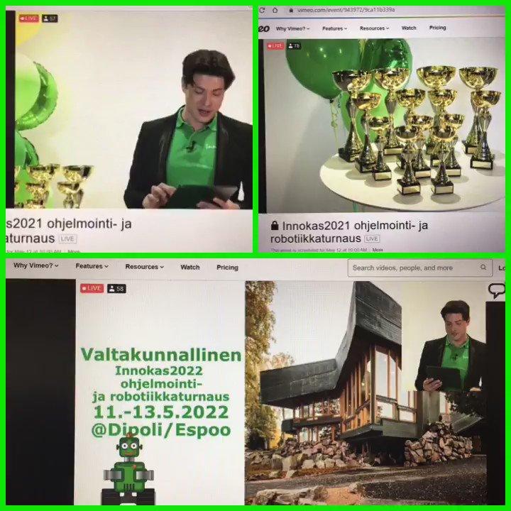 Image for the Tweet beginning: Upea #Innokasturnaus 2021 virtuaalisena! Ensi