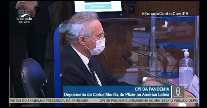 """- Gerente Geral da Pfizer na América Latina bota ponto final na CPI do Renan: """"o Brasil foi um dos primeiros países do mundo a ter o registro da vacina Pfizer.""""  - ParabénsAnvisa e Min Eduardo Pazuello. https://t.co/FSqIKsa680"""