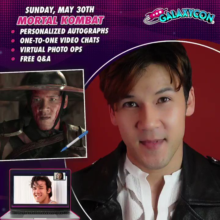 Meet @MehcadBrooks @jessica_mcnamee @themaxhuang on Sunday May 30th at 2PM ET with @galaxyconlive  Find Out More: https://t.co/wc8LEXBgiQ  Video Chat 1-to-1, Get Personalized Autographs and see a FREE Live Stream Q&A  #MortalKombat #comicconathome #celebrityzoom #galaxyconlive https://t.co/GeRaAk40GA