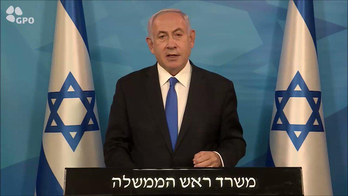 "Image for the Tweet beginning: Prime Minister Benjamin Netanyahu, tonight: ""We"