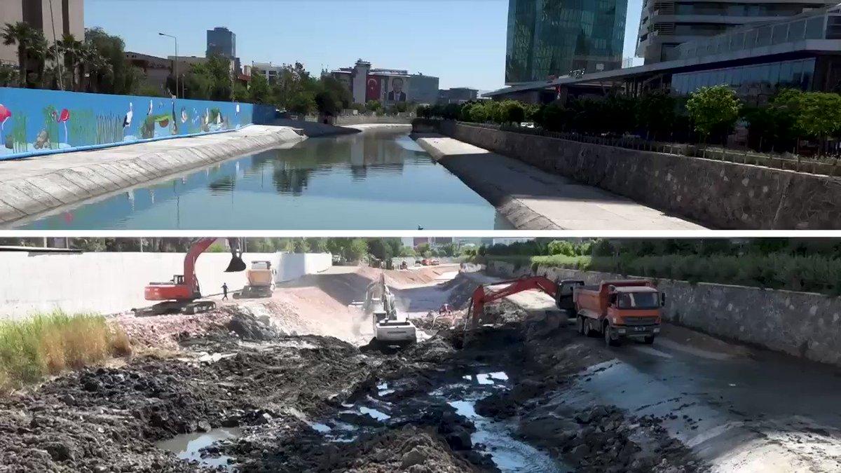Image for the Tweet beginning: Manda Çayı'nda koku ve kirlilik