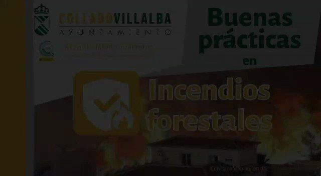 Image for the Tweet beginning: Buenas prácticas ante #IncendiosForestales #ColladoVillalba
